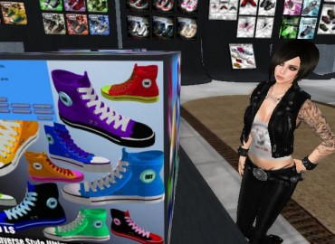 Converse sneakers in SL - Second Life